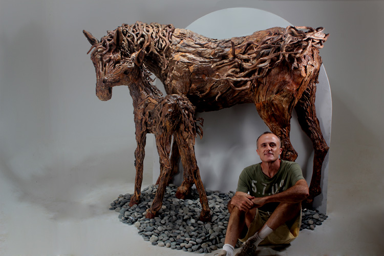 James doran webb driftwood sculptor for Sculpture murale bois flotte
