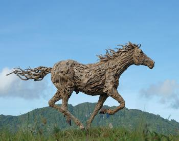 A Driftwood and Stainless Steel thoroughbred