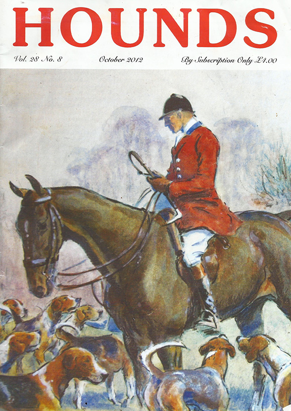 The Hounds Magazine, Front cover October 2012